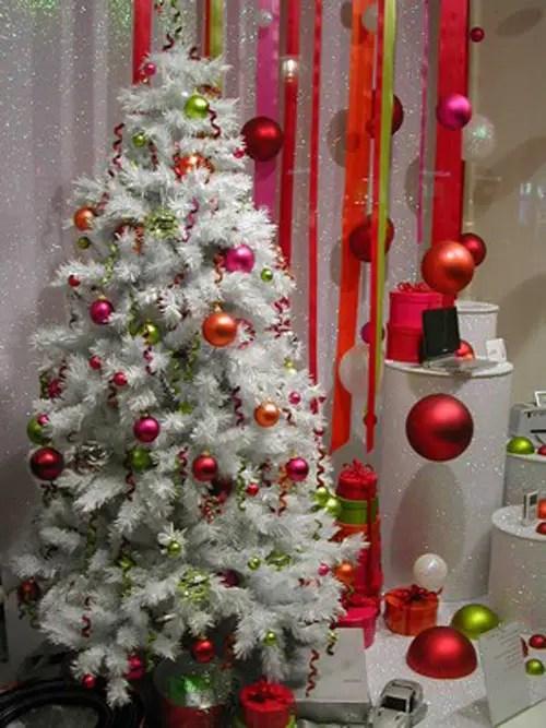 Decoraci n para rboles de navidad blancos dale detalles - Como adornar un arbol de navidad blanco ...