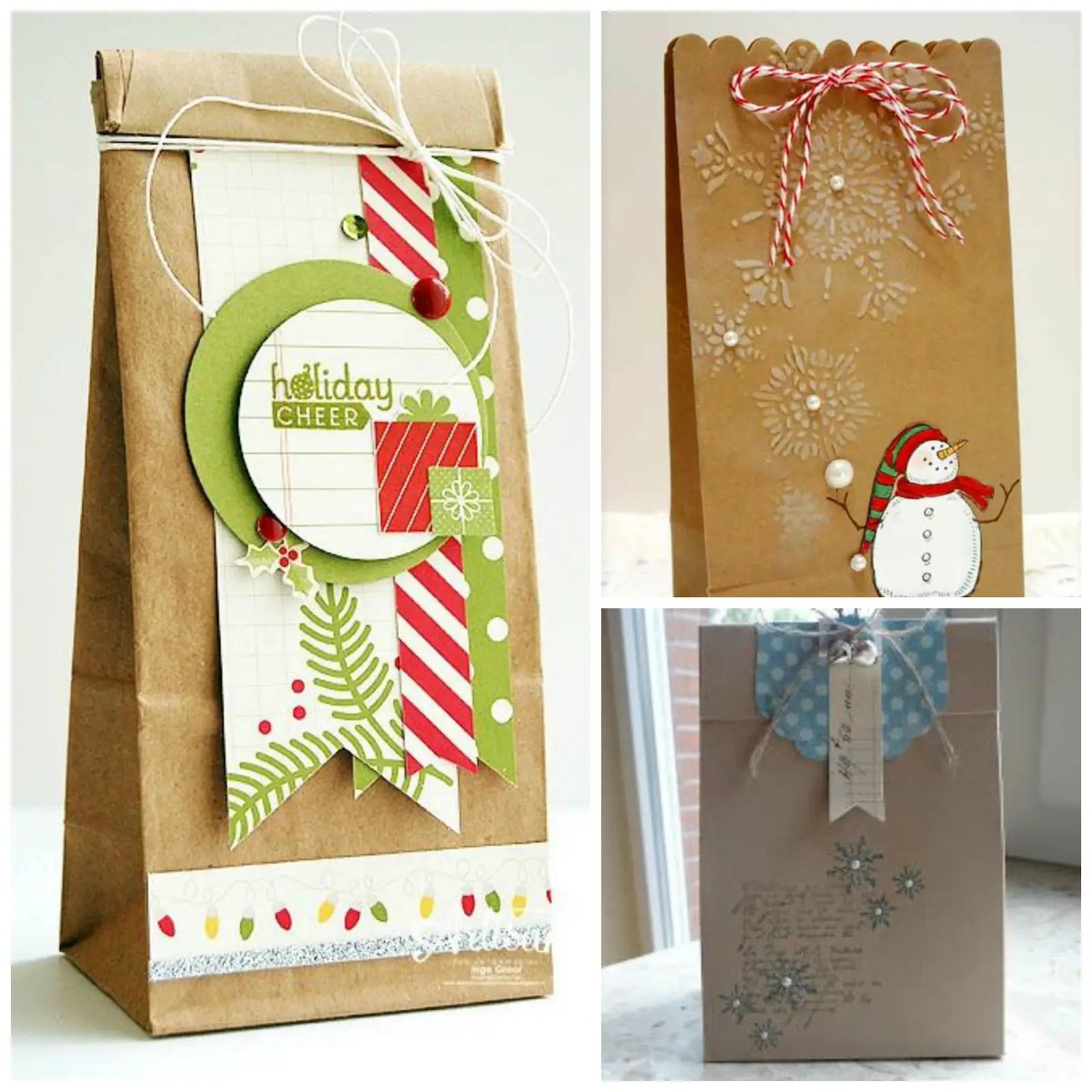 d60dc484c Bolsas para regalo navideño con bolsas de papel kraft - Dale Detalles
