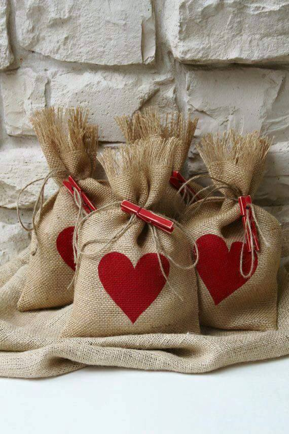 Bolsas navideas de yute Dale Detalles