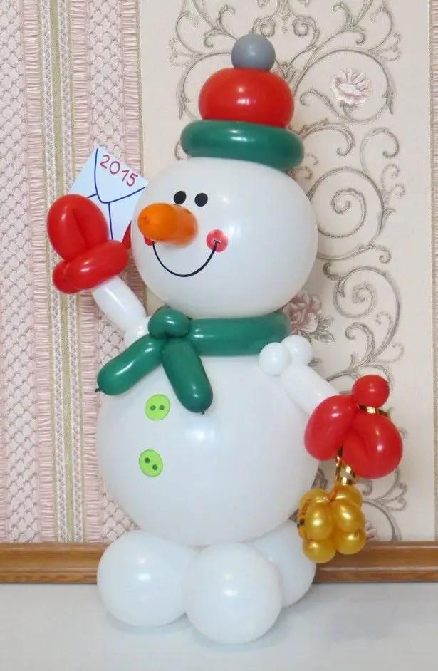 Decoracion navide a con globos dale detalles - Imagenes de decoracion navidena ...