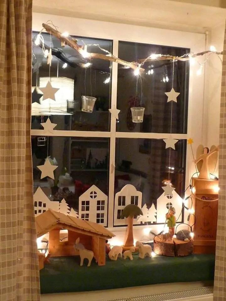Villas navide as de papel dale detalles - Weihnachtsdeko am fenster ...