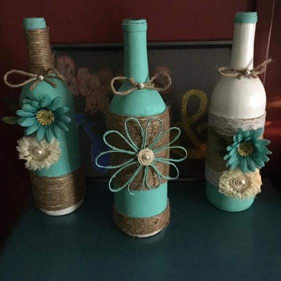 decora botellas con hilo r stico y yute dale detalles