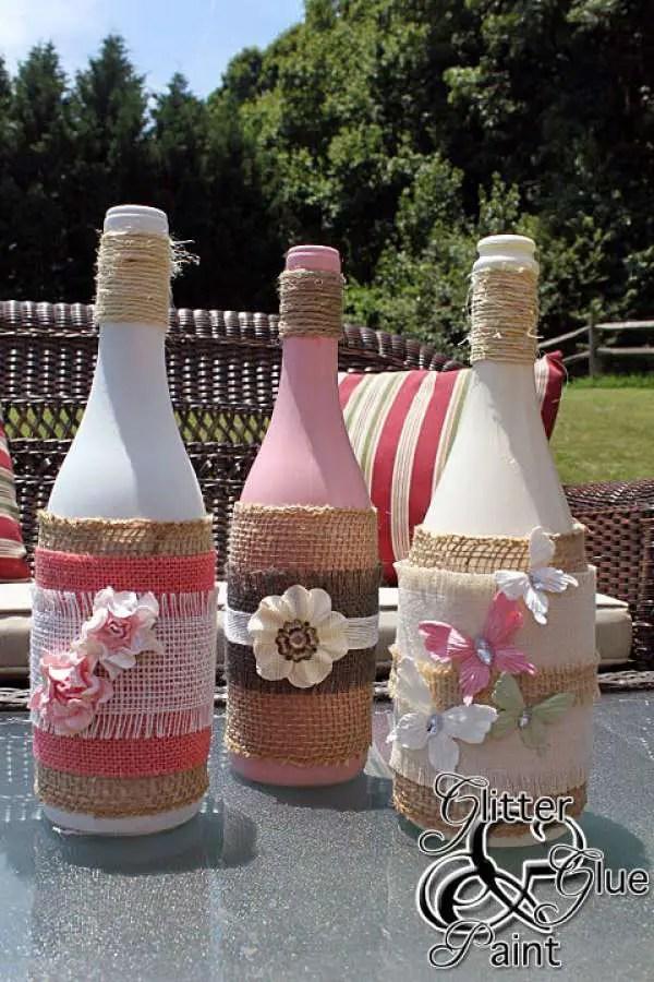 Decora botellas con hilo rstico y yute Dale Detalles