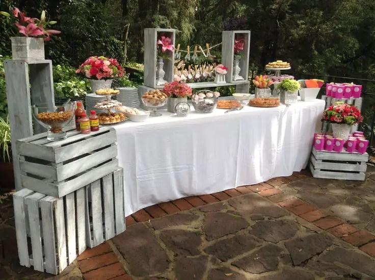 Mesas de dulces usando cajas de madera dale detalles - Tavole apparecchiate per buffet ...