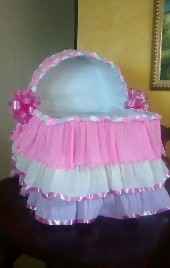 Encintados De Baby Shower De Nina.Cunitas De Carton Para Baby Shower Dale Detalles