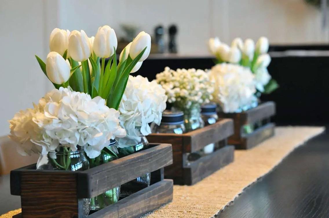 Centros de mesa con cajas de madera dale detalles - Mesas de centro de madera ...
