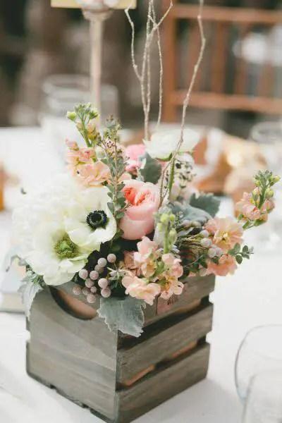 Centros de mesa con cajas de madera dale detalles - Cajones decorativos ...
