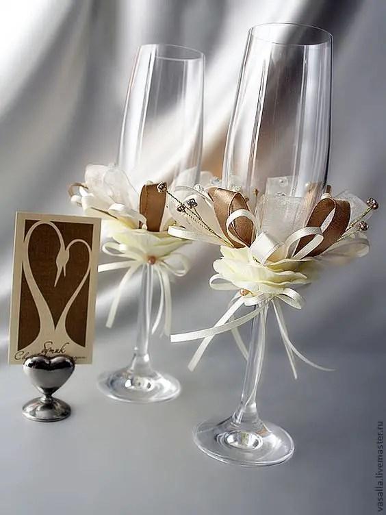 Aprende a decorar copas dale detalles - Como decorar copas para boda ...
