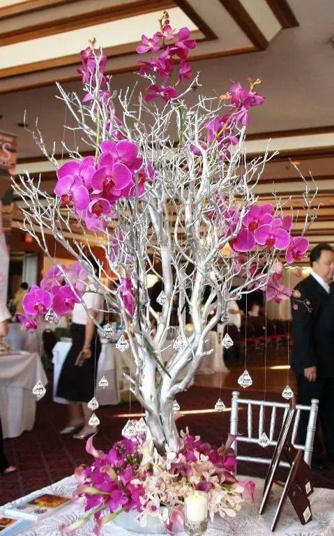 Hermosos centros de mesa con ramas secas Dale Detalles