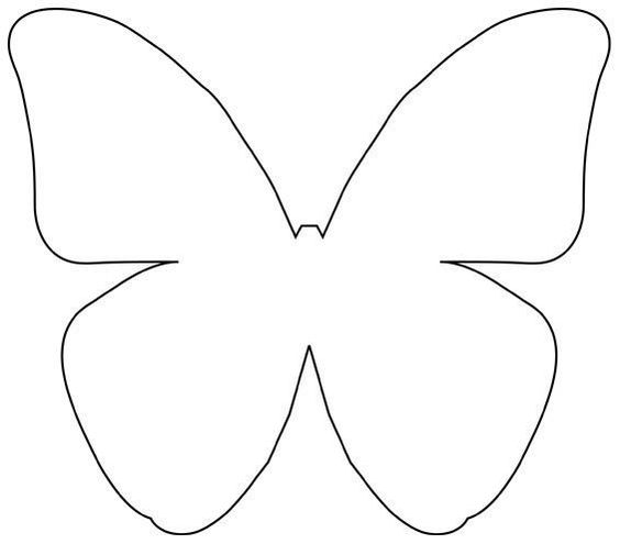 Decoraciones con mariposas de papel dale detalles for Butterfly paper cut out template