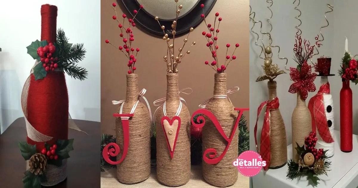 Decoracin navidea con botellas de vidrio Dale Detalles