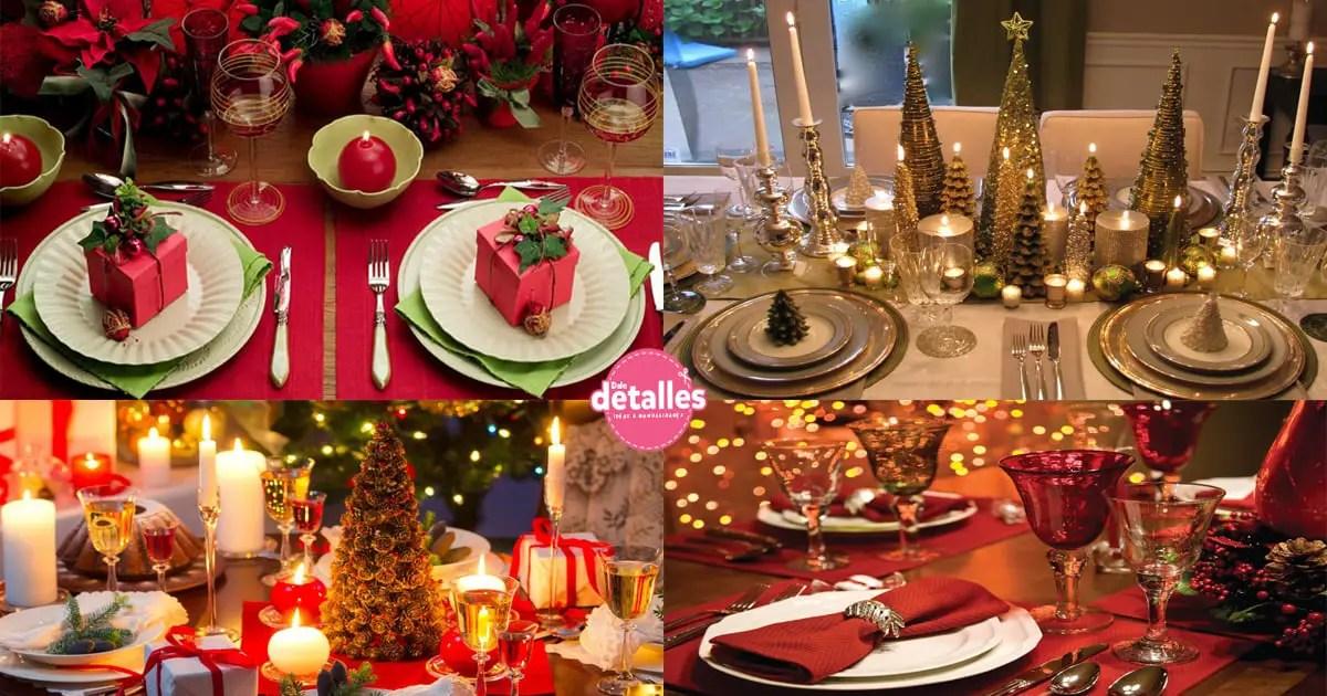 ideas para decorar la mesa de navidad dale detalles