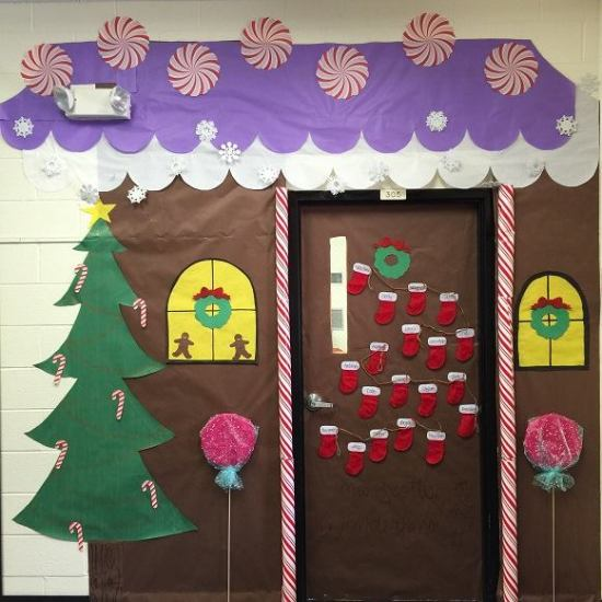 Classroom Door Decoration Ideas For Preschool Christmas ~ Ideas para decorar puertas escolares en navidad dale