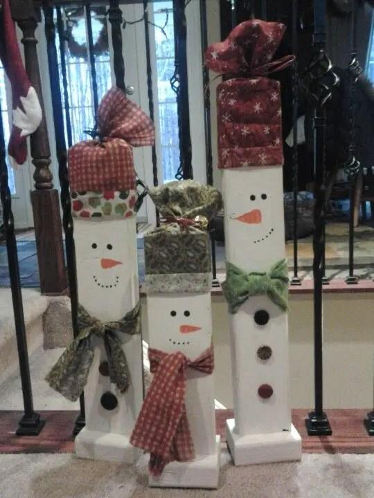 Decoraciones De Navidad Con Trozos De Madera Dale Detalles