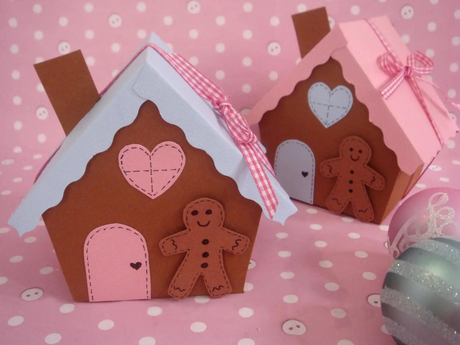Cajas de regalo con forma de casa de jengibre  Dale Detalles