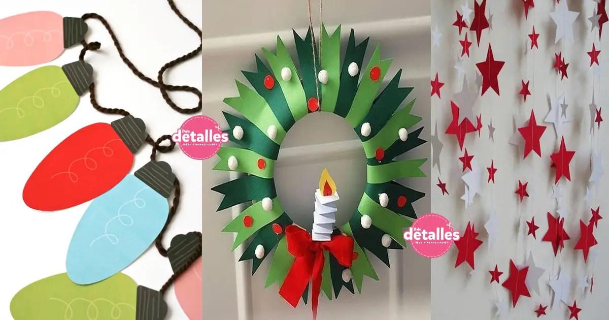 Manualidades navide as con papel dale detalles - Decoraciones navidenas manualidades ...