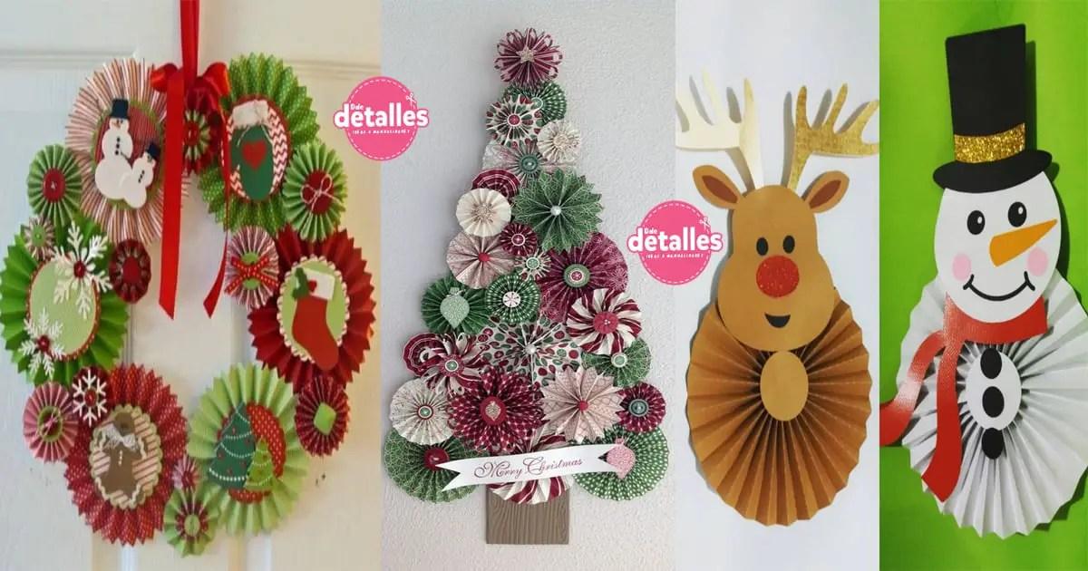 Adornos navide os con rosetones de papel dale detalles - Adornos navidenos ninos ...