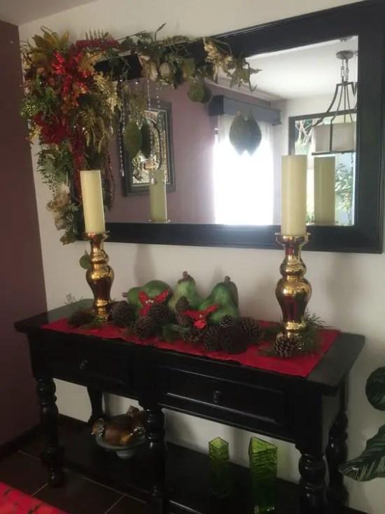 Ideas para decorar espejos en navidad dale detalles - Como adornar la casa en navidad ...