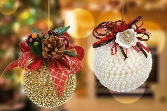 Decoración Navideña Con Perlas Dale Detalles