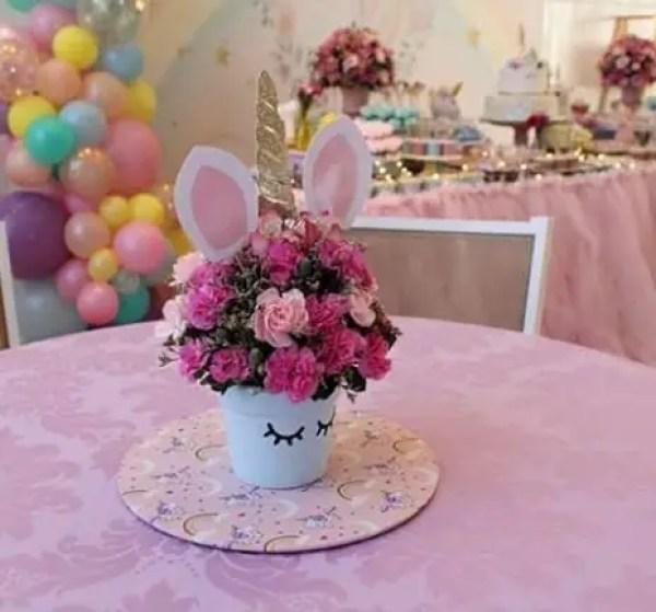 Centros de mesa unicornio dale detalles for Como hacer adornos de mesa
