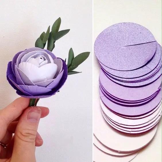 Como Hacer Rosas Usando Circulos De Fieltro Foami O Papel Dale
