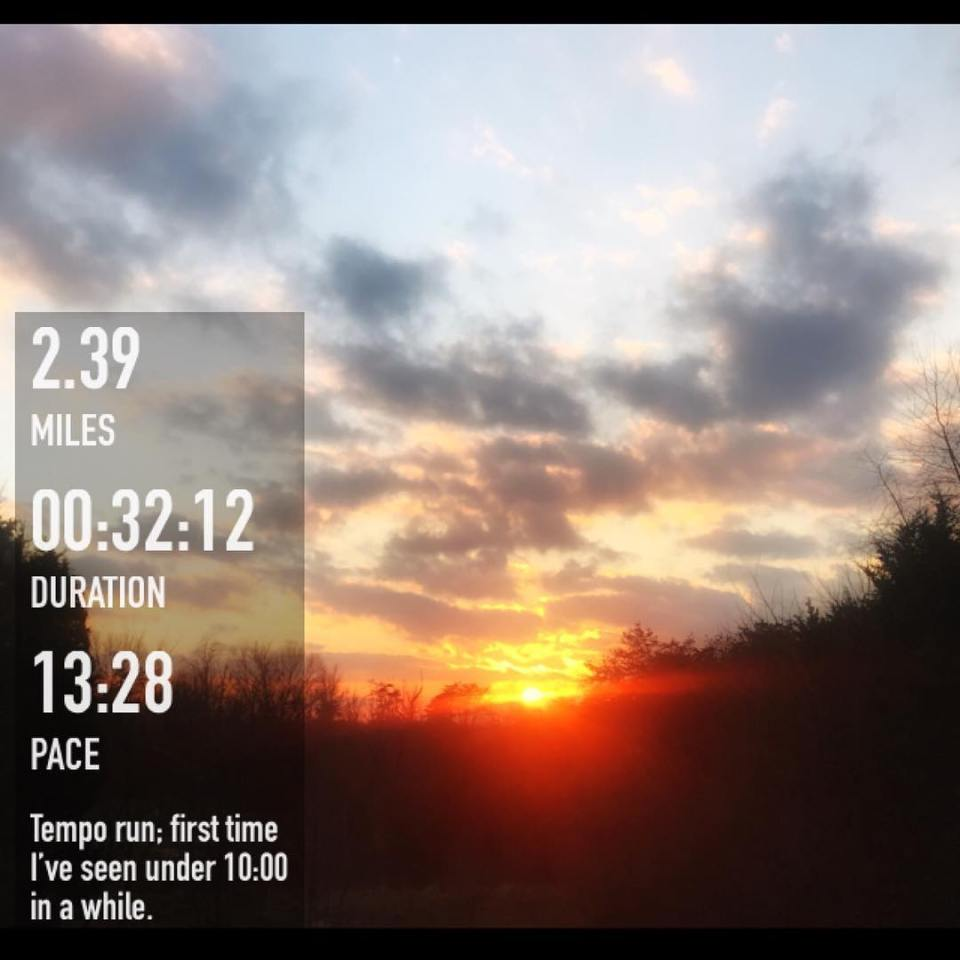 Tempo run slow warmup and cool down with a 12hellip