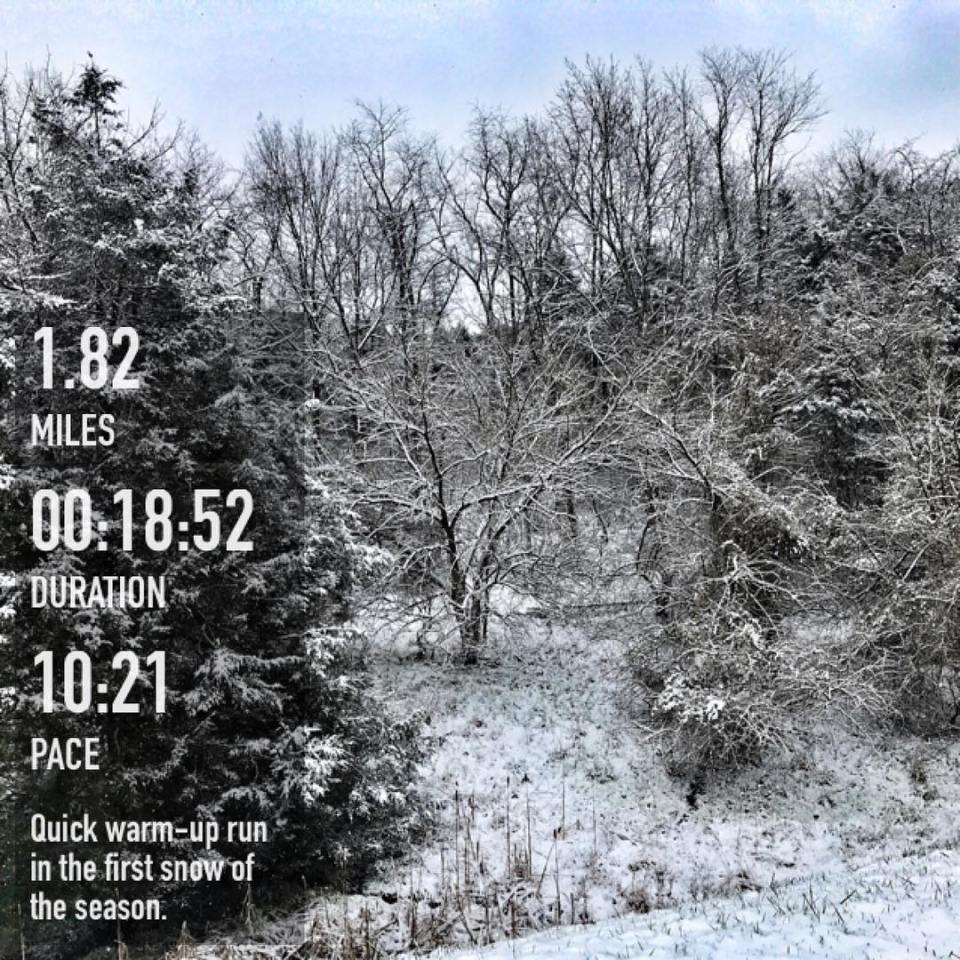 First run in the snow  a quick warm uphellip
