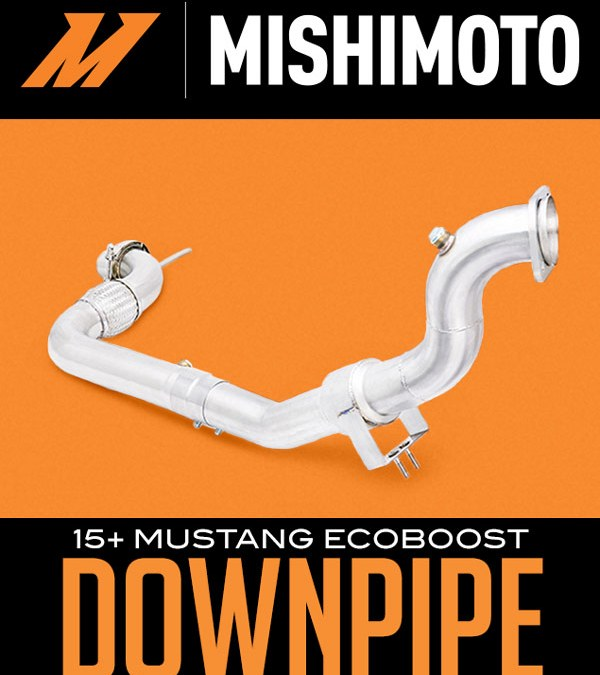 MISHIMOTO DOWNPIPE: 2015+ FORD MUSTANG ECOBOOST