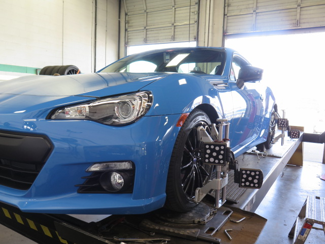 Hyper Blue BRZ getting Bilstein PSS-9 and SPC Rear Camber Arms