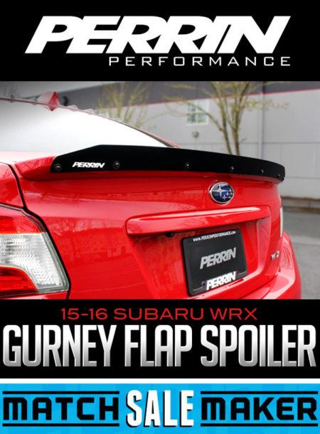 PERRIN PERFORMANCE GURNEY FLAP SPOILER: 2015-2016 SUBARU WRX