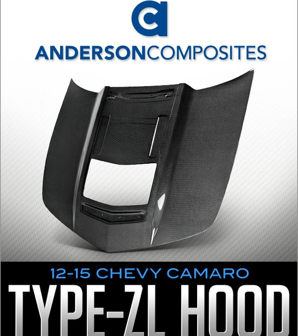 ANDERSON COMPOSITES TYPE-ZL HOOD: 2012-15 CHEVROLET CAMARO