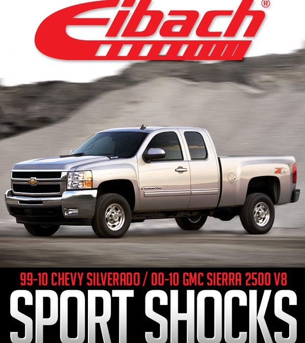 EIBACH PRO-TRUCK SPORT SHOCKS: 1999-2010 CHEVROLET SILVERADO AND 2000-2010 GMC SIERRA 2500 V8