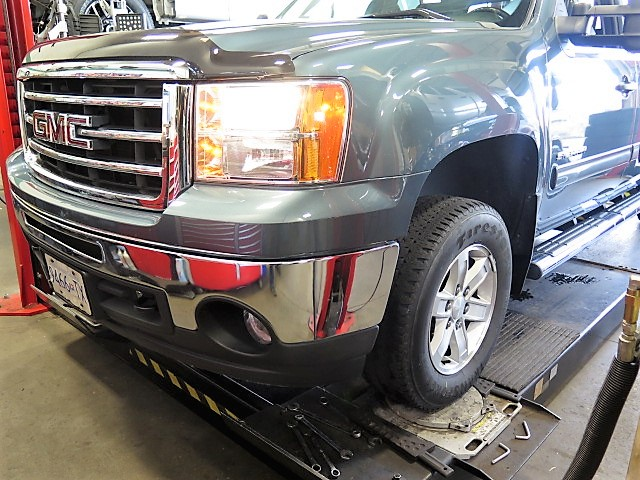 GMC 1500 with Bilstein 5100 Leveling Struts/Shocks and an Alignment