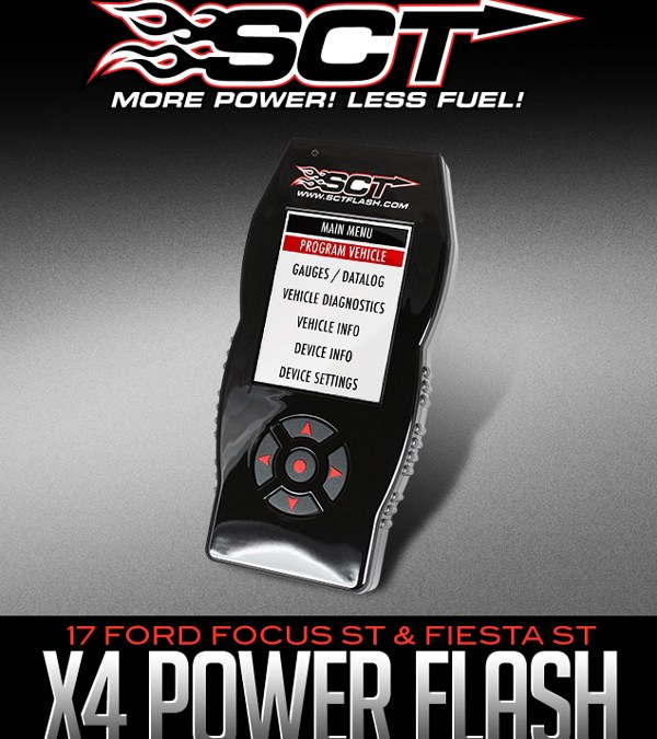 SCT PERFORMANCE X4 POWER FLASH PROGRAMMER: 2017 FORD FOCUS ST & FIESTA ST