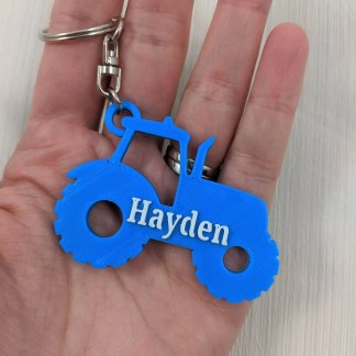 Tractor Keyring with name