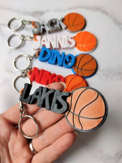Basketball keyrings in various colours