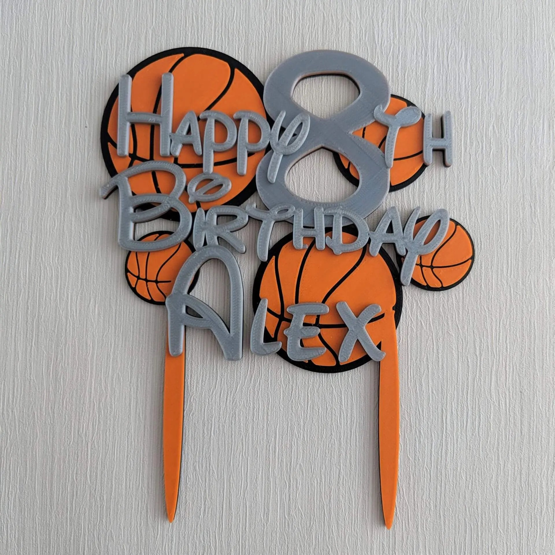 Incredible Personalised Basketball Birthday Cake Topper Dalewood Designs Gb Funny Birthday Cards Online Benoljebrpdamsfinfo