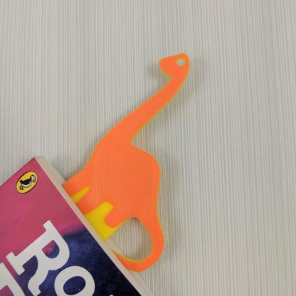 Dinosaur Bookmark 2 in yellow and Orange