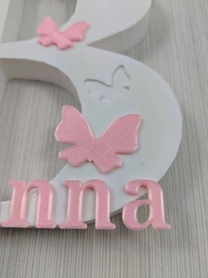Personalised free standing letter