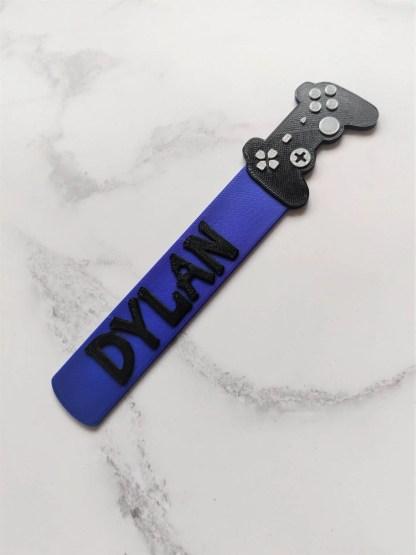 Game controller bookmark in Purple