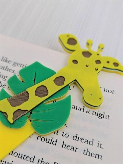 Giraffe themed Bookmark in Yellow
