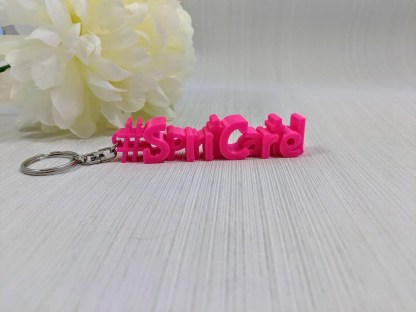 Personalised Hashtag Keyrings