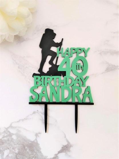 40th birthday cake topper - green