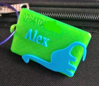 Personalised Dinosaur Luggage Tag 1