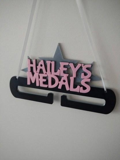 Personalised Medal holder - name in stars