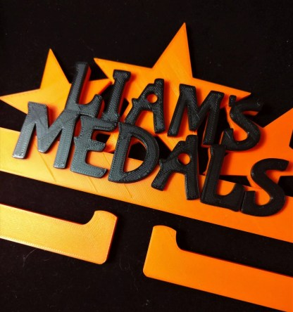 Personalised Medal holder - Gold and black