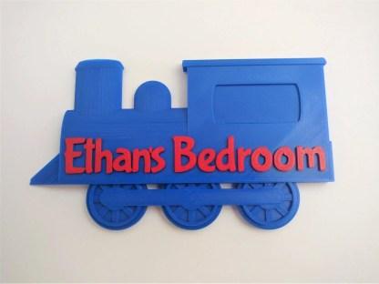 Train door sign