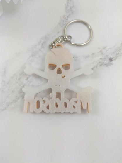 back of skull and crossbones keyring