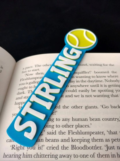 Tennis bookmark