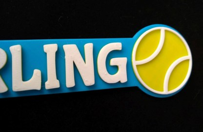 Personalised Tennis bookmark 1
